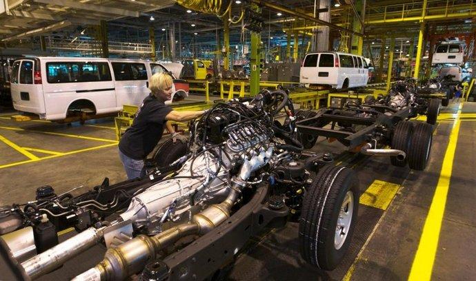 Výrobní linka v jedné z továren General Motors