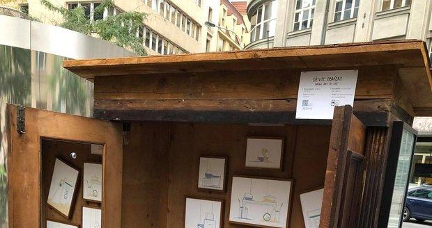 Nedaleko obchodního domu Máj, začala výstava Krajinoskop, která upozorňuje na změnu klimatu