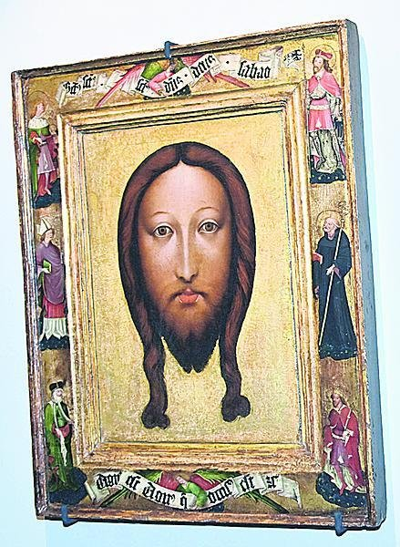 Svatovítský veraikon: Obraz Kristovy tváře je součástí svatovítského pokladu.