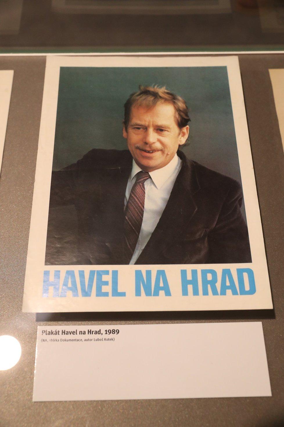 Z výstavy Havel na Hrad - Příběh roku 1989.