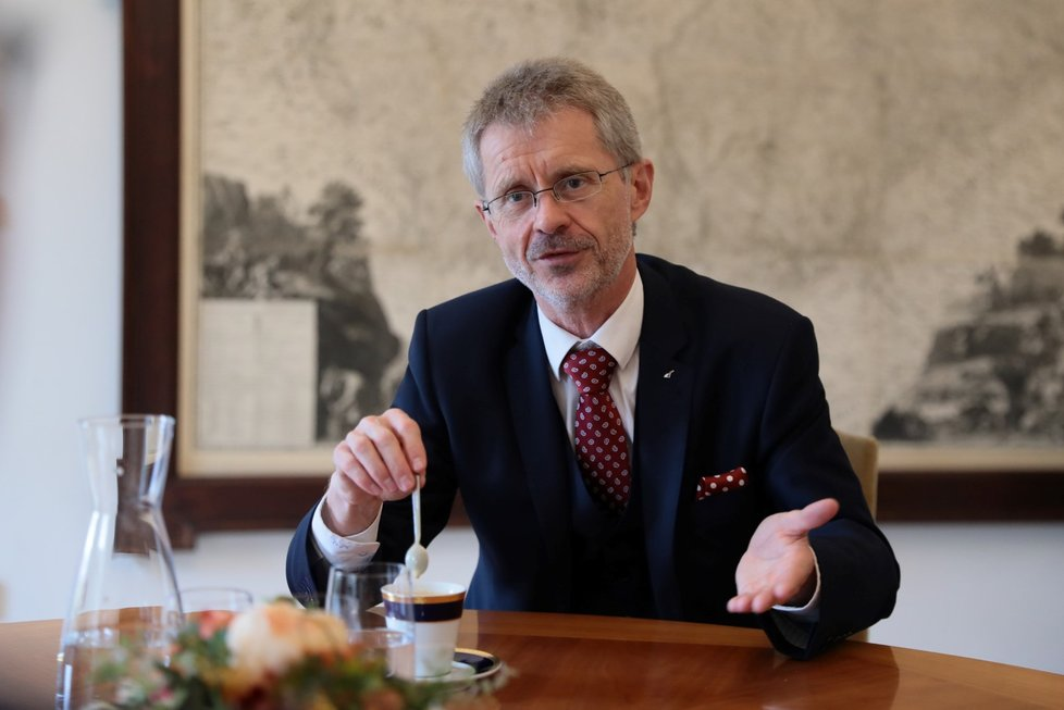 Předseda Senátu Miloš Vystrčil (ODS) během rozhovoru pro Blesk (13. 10. 2021)