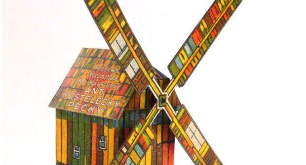Vystřihovánka ke stažení: Větrný mlýn