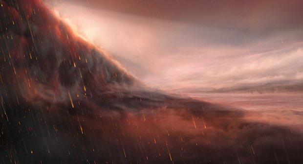 Věčnný den a věčná noc: Na exoplanetu prší železný déšť