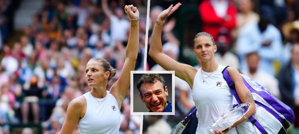Expert Eurosportu Mats Wilander pěl po prohře ve wimbledonském finále na Karolínu Plíškovou jen chválu
