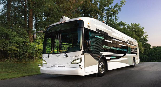 Xcelsior AV: Samořídicí autobus je připraven k nasazení do ulic