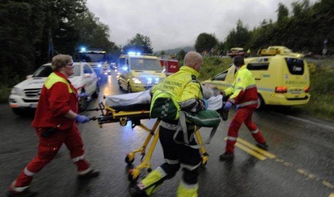 Záchranáři zasahují po střelbě na ostrově Utoya