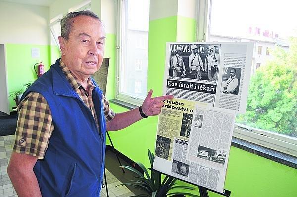 Báňský záchranář a lékař Milan Blažek vzpomínal na své téměř třicetileté působení v Ostravě.