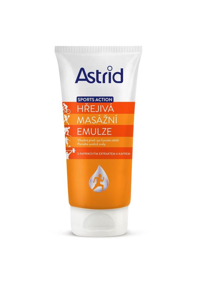 Hřejivá masážní emulze Sports Action, Astrid, 59 Kč