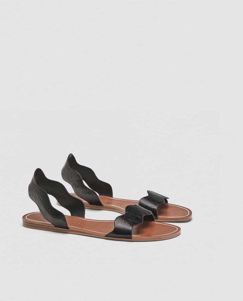 Kožené sandály, Zara, 699 Kč