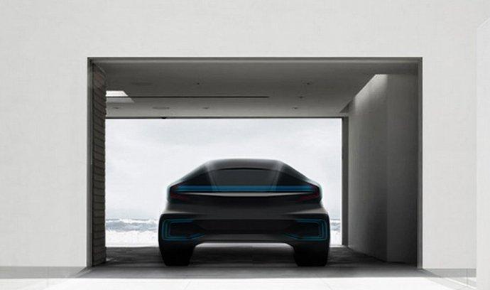 Zatím jediný obrázek chystaného auta, který automobilka Faraday Future zveřejnila