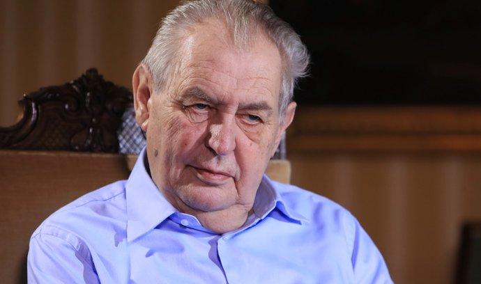 Uzavření průmyslu považuje prezident Miloš Zeman za riskantní