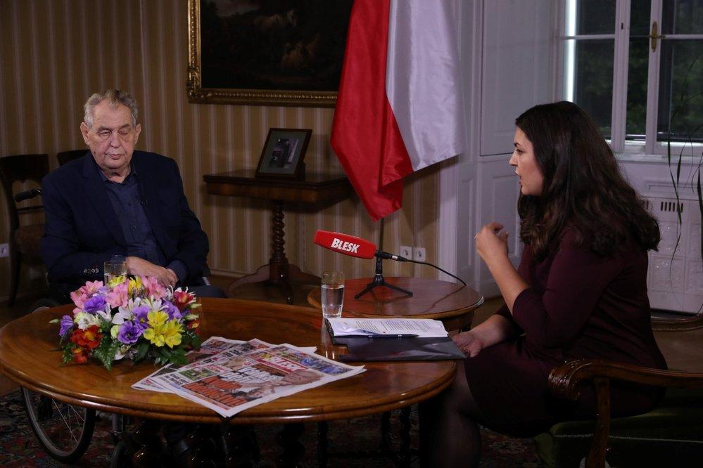 Miloš Zeman v pořadu Blesku S prezidentem v Lánech