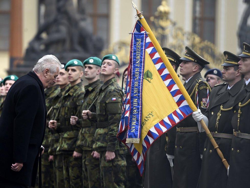 Prezident Miloš Zeman na slavnostní přísaze vojáků - rok 2015