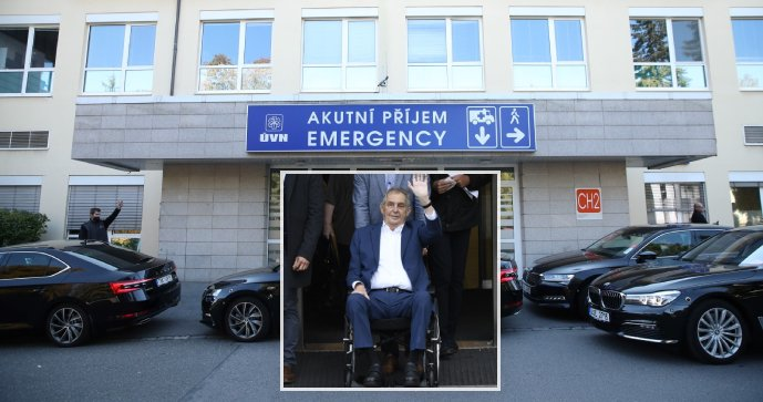 Klinika, kde leží Zeman: uzavřené oddělení a návštěvy nejvíce ve dvou