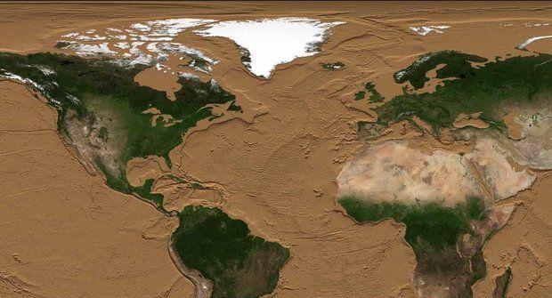 NASA vysušila oceány! Fascinující animace Země bez vody