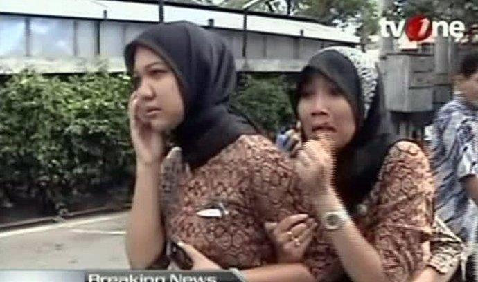 Ženy, které vyděsilo zemětřesení
