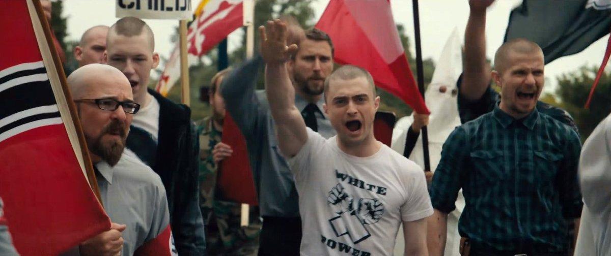 Radcliffe hraje agenta FBI, který se infiltruje do neonacistické organizace.