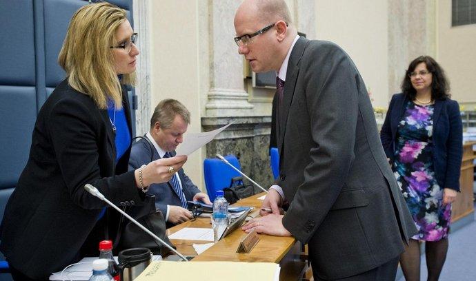Ministryně pro místní rozvoj Karla Šlechtová a premiér Bohuslav Sobotka