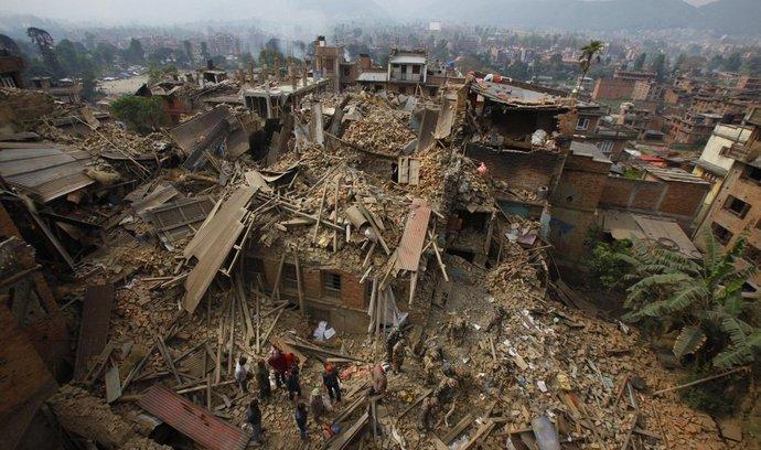 Zničené Káthmándú