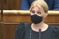 """""""Slovensko je zraněnou zemí."""" Čaputová v černém promluvila o náročných časech a očkování"""