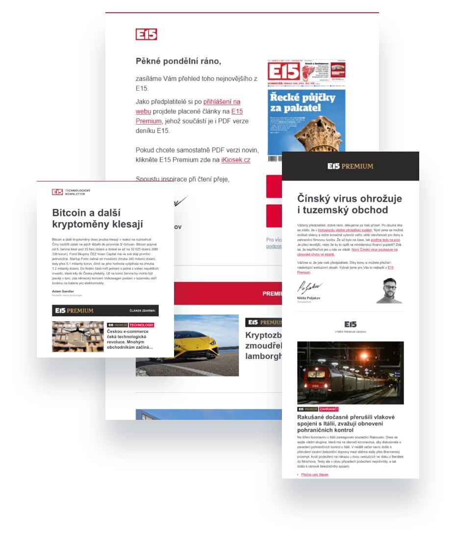 Ilustrace newsletteru