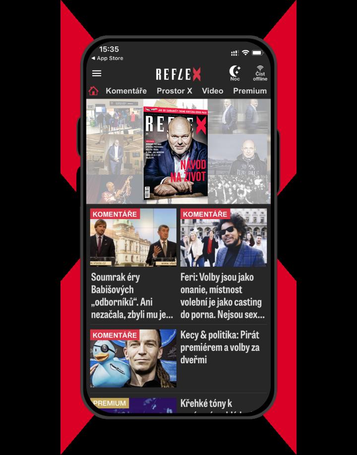 Mobilní aplikace Reflex