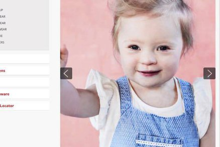 Firma si na focení oblečení vybrala holčičku s Downovým syndromem. Lily to jde skvěle!
