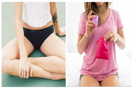Zahoďte vložky a tampony! Otestovaly jsme menstruační kalhotky i kalíšek. Co je příjemnější?