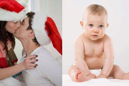 Milujte se a množte se: Na Vánoce lidé počnou nejvíce dětí