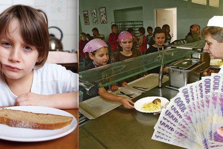 Děti bez školních obědů mají horší prospěch. Hlad jim zaženou miliony od státu