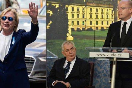 Kolaps Clintonové české politiky neděsí. Až na Zemana své zdraví odmítají odkrýt