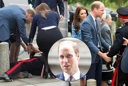 Pohotový princ William jako zachránce: Poručíkovi (72) pomohl po pádu