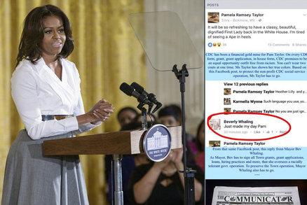 Obamová je opice na podpatcích, urážela úřednice. Starostka po výsknutí končí