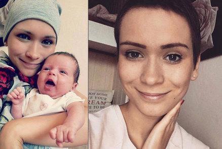 Janě (23), které našli v těhotenství rakovinu, už rostou vlasy: Klíčová návštěva lékaře!