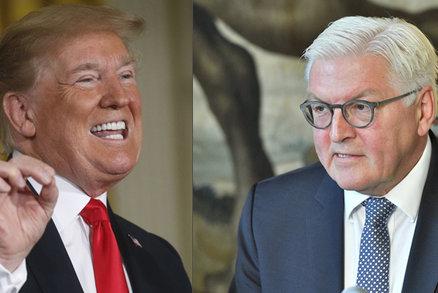Svět není boxerský ring. Německý prezident varoval Trumpa před ničením vztahů s EU