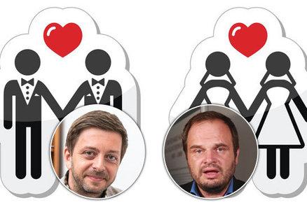 """""""Gayové a lesby nejsou něco míň."""" Rakušan i Šmarda jsou pro """"duhové sňatky"""", lidovci zuří"""