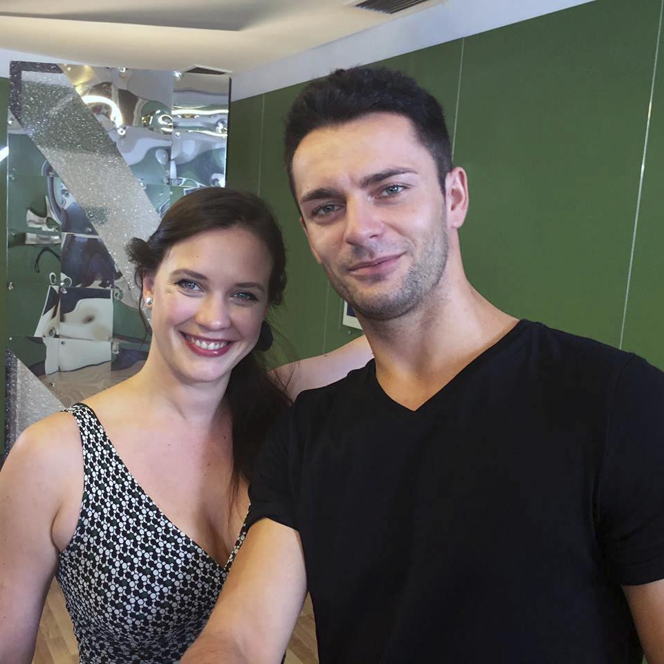 Kristýna Leichtová s tanečníkem Vaškem Masarykem.