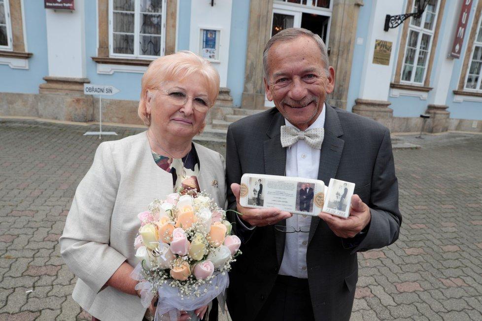 Jaroslav Kubera s manželkou Věrou