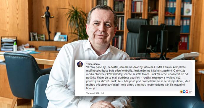 Rektor Karlovy univerzity Tomáš Zima.