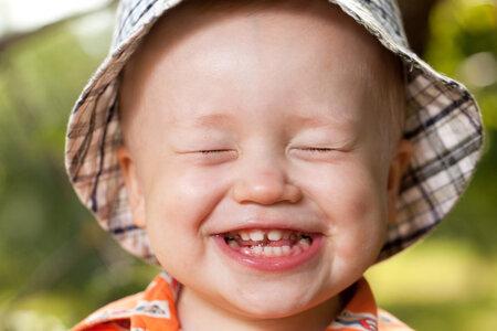 Přirozený dětský úsměv je nejkrásnější.