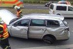 Na Havlíčkobrodsku se srazila tři auta. Jeden řidič nehodu nepřežil