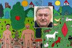 Zeman vyznamenal Ringo Čecha: 10 jeho nejšílenějších obrazů