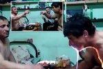 Takhle se kalí v Rusku: Opilcovi chytla od chlastu hruď!