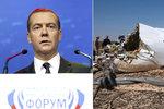 Medveděv připustil: Letadlo mohlo být terčem teroristů