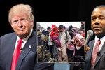 Trump souhlasil s databází muslimů. Jeho rival přirovnal uprchlíky ke psům