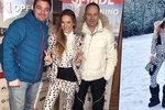 Ve Špindlu začala lyžařská sezona: Verešová drandí v sukýnce!