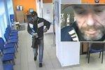 Vystál frontu a přepadl vršovickou banku: Znáte muže se zbraní a kufříkem?