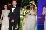 Trapas nevěsty Partyšové: Vdala se v šatech, které už oblékla Absolonová i jiná nevěsta!