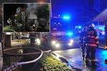 Tragický požár rodinného domu Praze: Uhořela žena s malým dítětem (†2)