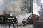 Obří požár skladu v Plzni: Dým byl vidět na kilometry daleko